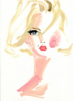 "Illustration - Miyuki Ohashi draws ""Andrej Pejic as Marilyn Monroe"""