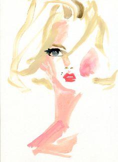 """Miyuki Ohashi draws """"Andrej Pejic as Marilyn Monroe"""""""