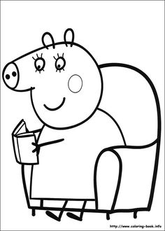 Dibujo para colorear de Peppa Pig (nº 7)