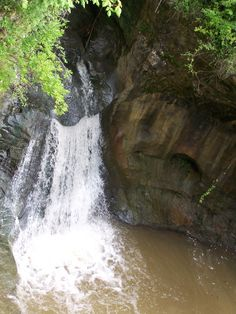 diving at rock mill | Rock Mill, Fairfield County, Ohio. Gorge, Headwaters of the Hockinig ...