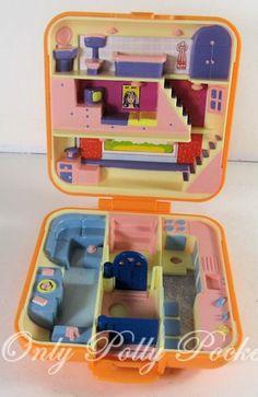 1989 Vintage Polly Pocket Polly's Town House Bluebird Toys (31504). $18.00, via Etsy.