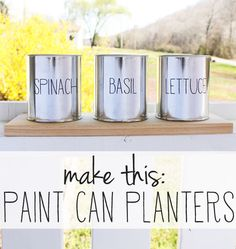 easy paint can planters