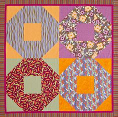 Supersize Shoo Fly - Just one of these huge blocks would make a great Linus quilt!