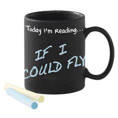 Today I'm Reading... Chalkboard-Surface Mug