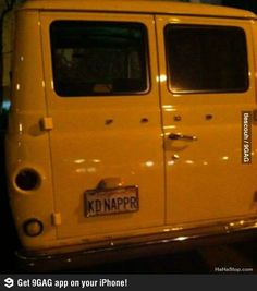 Funny License Plates? Maybe you shouldn't have bought a van.