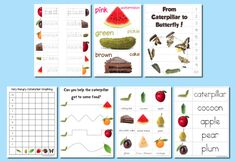 Free Very Hungry Caterpillar Printable Pre-School Pack (B = Butterfly)