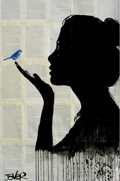 """""""Harmony"""" pen and ink drawing by Loui Jover."""
