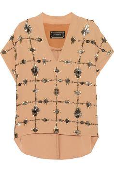 Shop now: Malene Birger embellished top