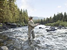 """The Resort at Paws Up in western Montana, Nature, Fly Fishing, Spa without """"roughing it."""""""