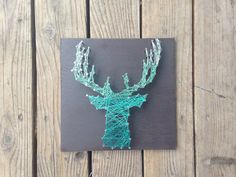 Deer Silhouette String Art - Antlers - Customizable - String & Nail by Kimmie Geer deer silhouett, string art