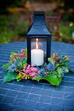 Candle centerpiece.../