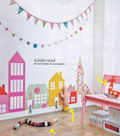 kids room + cute wall decor and styling