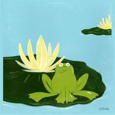 Lily Pad Pond I Canvas Reproduction
