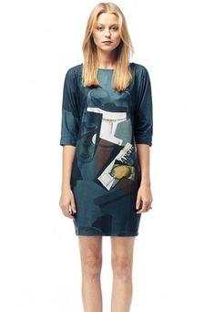 Newspaper - Printed T-shirt Dress