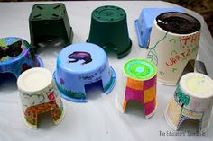 Create a Toad Home using recyled containers!  Join us as we share ideas on how to Party for the Planet for Earth Day!