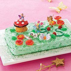 Fairy/magical garden cake