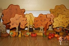 Love these little wooden trees. Now if I could only learn how to use the scroll saw.