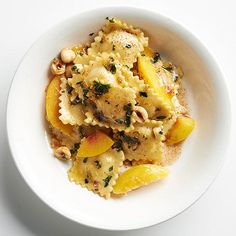 Buttered Peaches and Ravioli combine for a deliciously balanced dinner: http://www.bhg.com/recipes/from-better-homes-and-gardens/august-2014-recipes/?socsrc=bhgpin082014butteredpeachesandravioli&page=19
