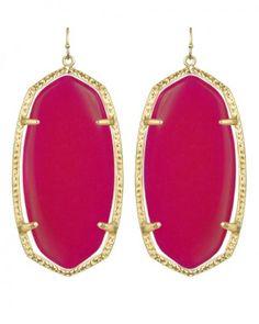 Danielle Earrings in Pink Agate. #KendraScott