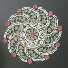 2010, KJ Hay prize for Technical Merit: Rose Infinity Doily designed by Kathryn White