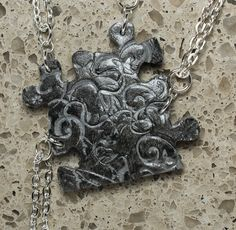 Puzzle Necklace Bridesmaid Best Friend Jewelry Set of 4 Necklaces Butterfly and Swirls Silver Made To Order. $60.00, via Etsy. There you go B. bridesmaids, friends, friend jewelri, butterflies, necklac butterfli, swirl silver, necklaces, necklac bridesmaid, puzzl necklac