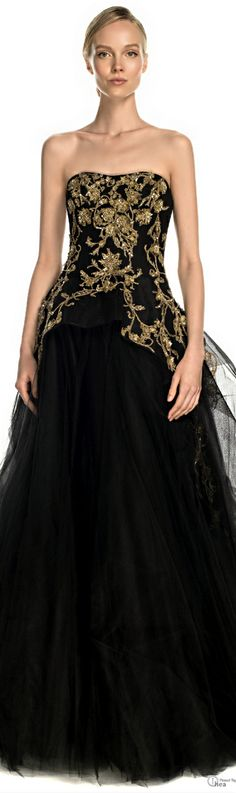 Marchesa dream gown, balls, ball gowns, style, cloth, fashion flair, tull ball, couture dresses, black dress