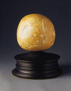 A Very Rare and large Bezoar stone , probably from an Elephant  (1600 to 1800 - The word 'Bezoar' comes from the Persian bad-sahr meaning 'poison antidote', and in the 16th century they were believed to be panaceas for numerous ills. A 'must have' for any renaissance or enlightenment kunstkammer a bezoar stone is formed from accretions in the stomachs of ruminants that have become ossified. This example is so large that it is probably from an elephant. India ?)