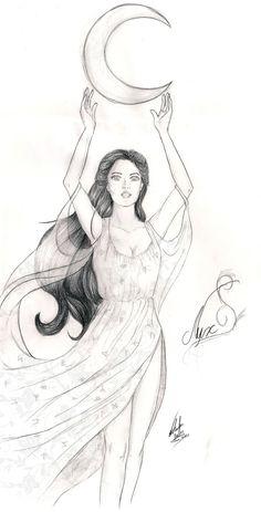 Goddess Nyx - House of Night by NatBelus.deviantart.com on @deviantART