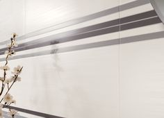 Piastrelle bagno linea Dress Up, dettaglio del decoro Brick.    #rivestimentibagno #grescollection #arredobagno