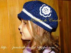 * Pérolas do Crochet: Boina infantil de croche - Boina burguesinha