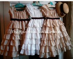 peasant dress inspiration-Makes me wish I had some little girls to dress them up in these....