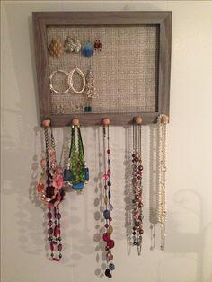 Homemade Jewelry Holder