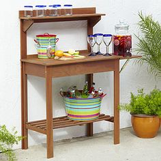 Wood Potting Bench | World Market