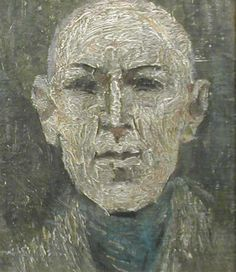 Head of a Bald Man by LS Lowry