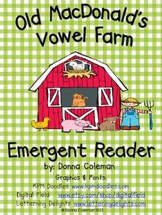 Old MacDonald Short Vowel Emergent Reader - DK Coleman - TeachersPayTeachers.com