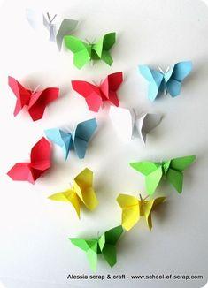 Lavoretti di primavera: volo di farfalle origami