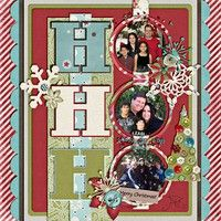 "Cute & Colorful ""Ho Ho Ho"" Christmas Page...circle photos are the ""o"" in the Ho! christmas cards, circles, bookmarks, scrapbook christma, christmas scrapbook layouts, christma layout, christma scrapbook, scrapbook idea, scrapbook galleri"