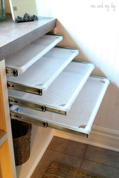DIY Built-in Laundry Drying Racks