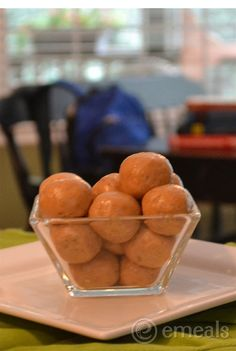 Clean Eating After School Snack: Peanut Butter Balls