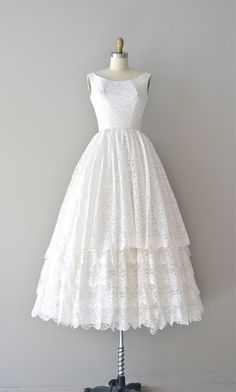 lace 1950s dress / vintage 50s wedding dress / You by DearGolden, $325.00