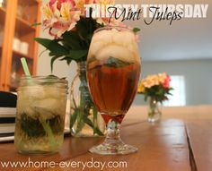TWO UNTRADITIONAL MINT JULEPS!  www.home-everyday.com