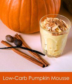 Low carb pumpkin mousse