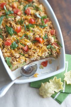 The no-guilt, 7-layer taco dip.