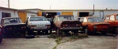 A lot of Alfa Romeo wrecks
