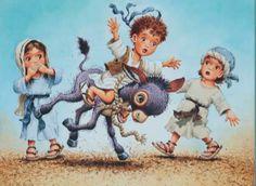 sunday school, preschool activ, book, donkeys, anthoni destefano, school rooms
