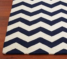 Chevron Wool Rug #PotteryBarnKids