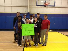 """cizzors: """"The Waterbury PAL Special Olympics Volleyball team wishes the best of luck to the crew of Expedition 38."""""""