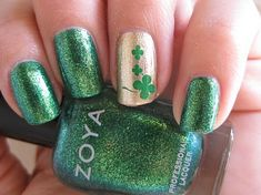 st. patricks day manicure