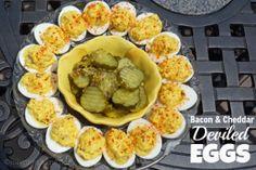 Bacon & Cheddar Deviled Eggs