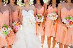 Coral bridesmaids dresses #CCWedding
